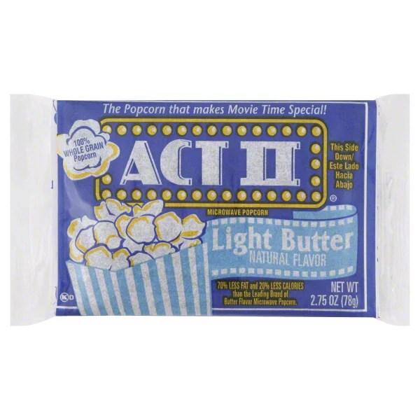 act ii light butter microwave popcorn