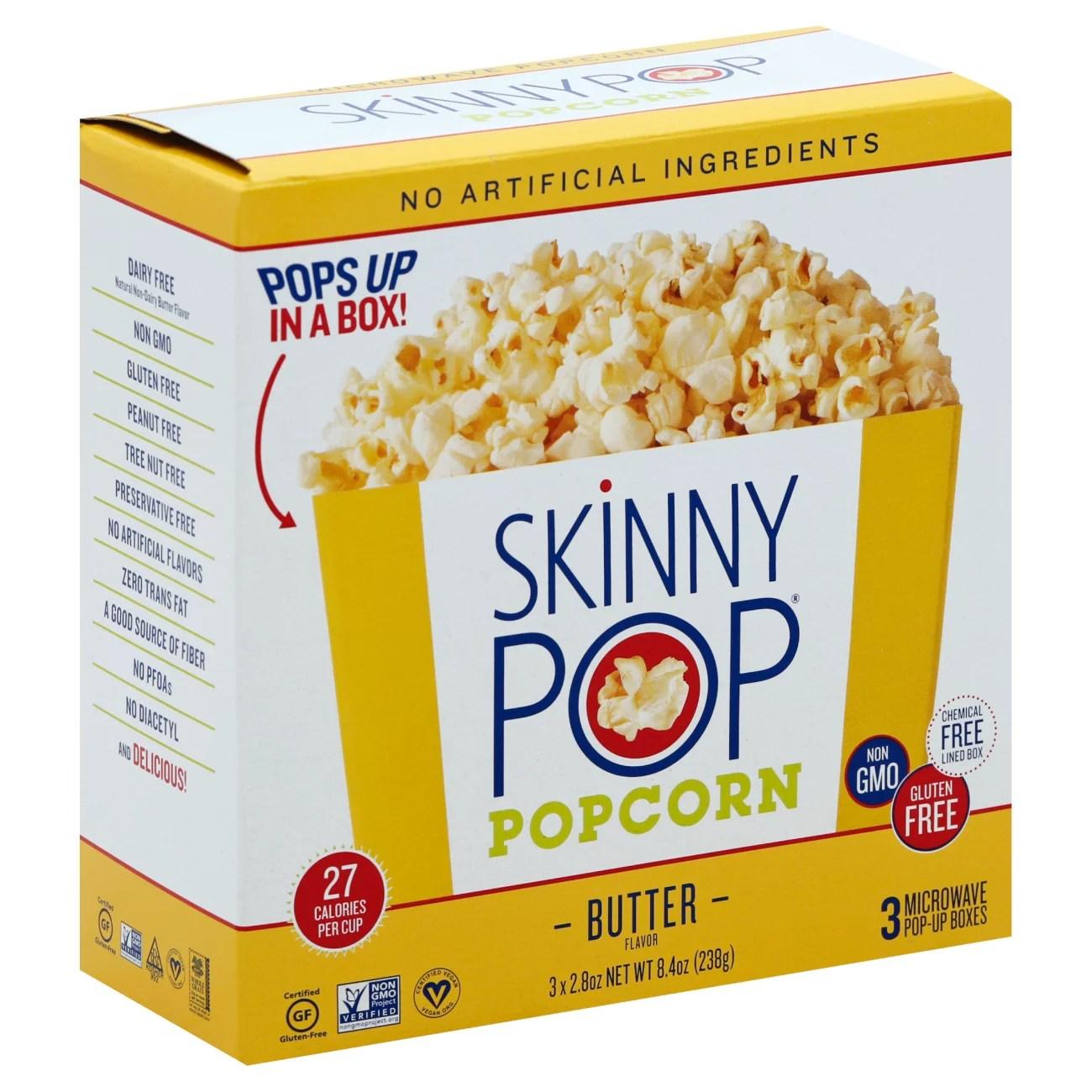 skinnypop butter microwave popcorn pop