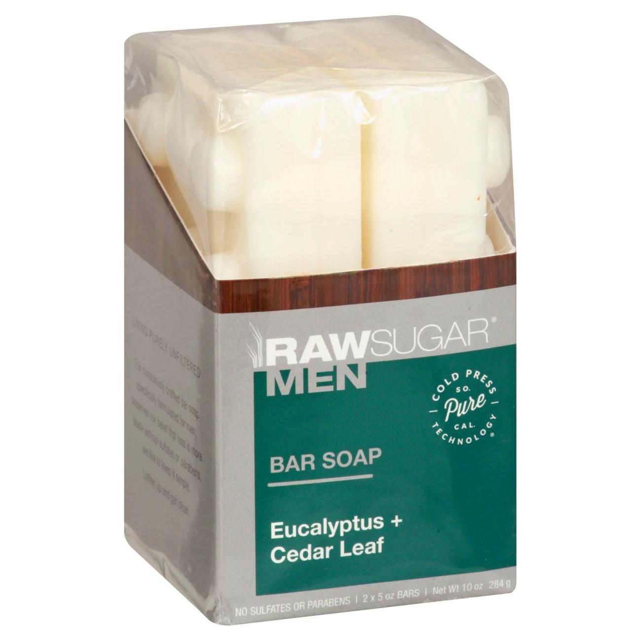 Raw Sugar Men's Bar Soap Eucalyptus + Cedar Leaf - Shop ...