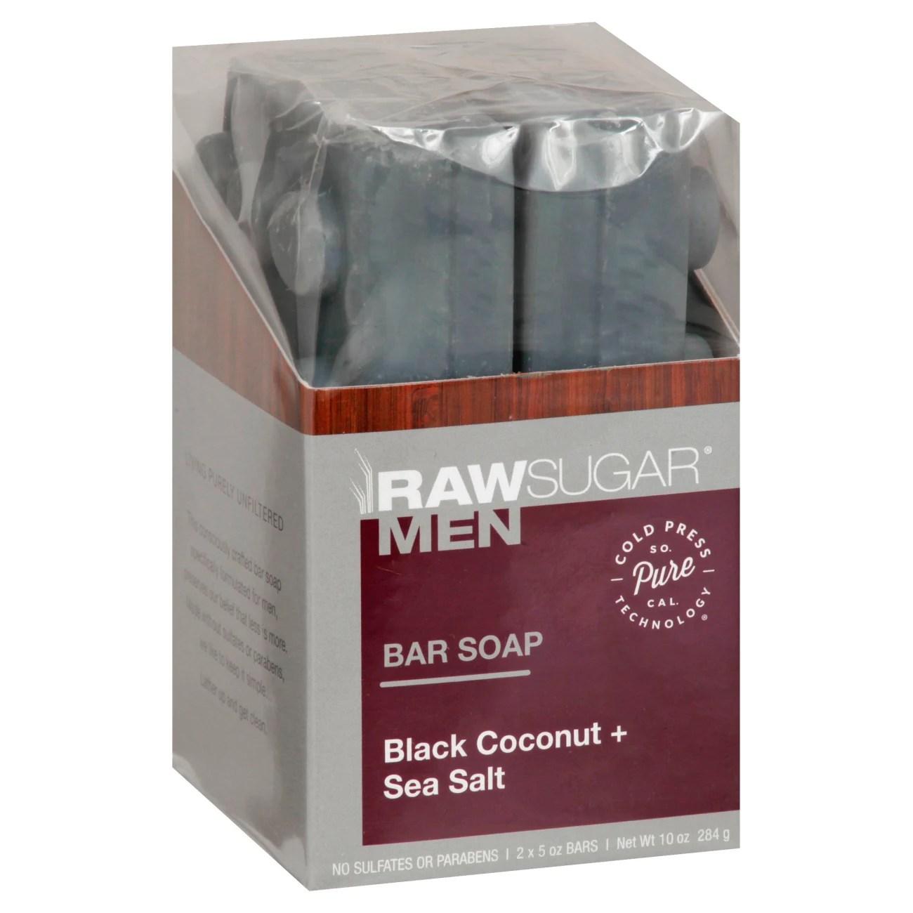 Raw Sugar Men's Bar Soap Black Coconut + Sea Salt - Shop ...