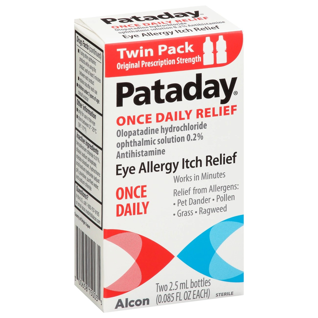 Pataday 16-hour Relief Twin Pack 5ml - Shop Eye Drops ...