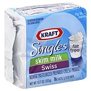 Kraft Singles Fat Free Swiss Cheese Slices - Shop Cheese ...