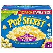 pop secret movie theater butter microwave popcorn family size shop popcorn at h e b