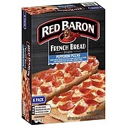 red baron singles french bread pepperoni pizzas value pack shop pizza at h e b