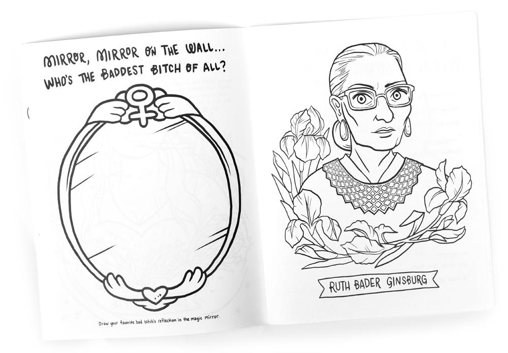 A coloring book featuring all our favorite boss babes? Yes