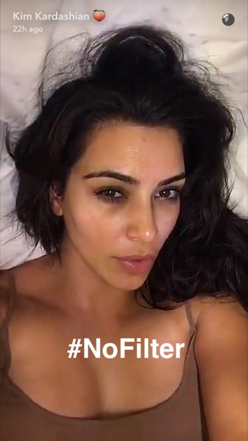 Kim Kardashian Got Real About The Snapchat Beauty Filter