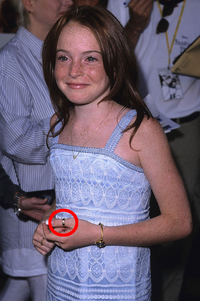 Lindsay Lohan looked like a 90s girls dream on her first
