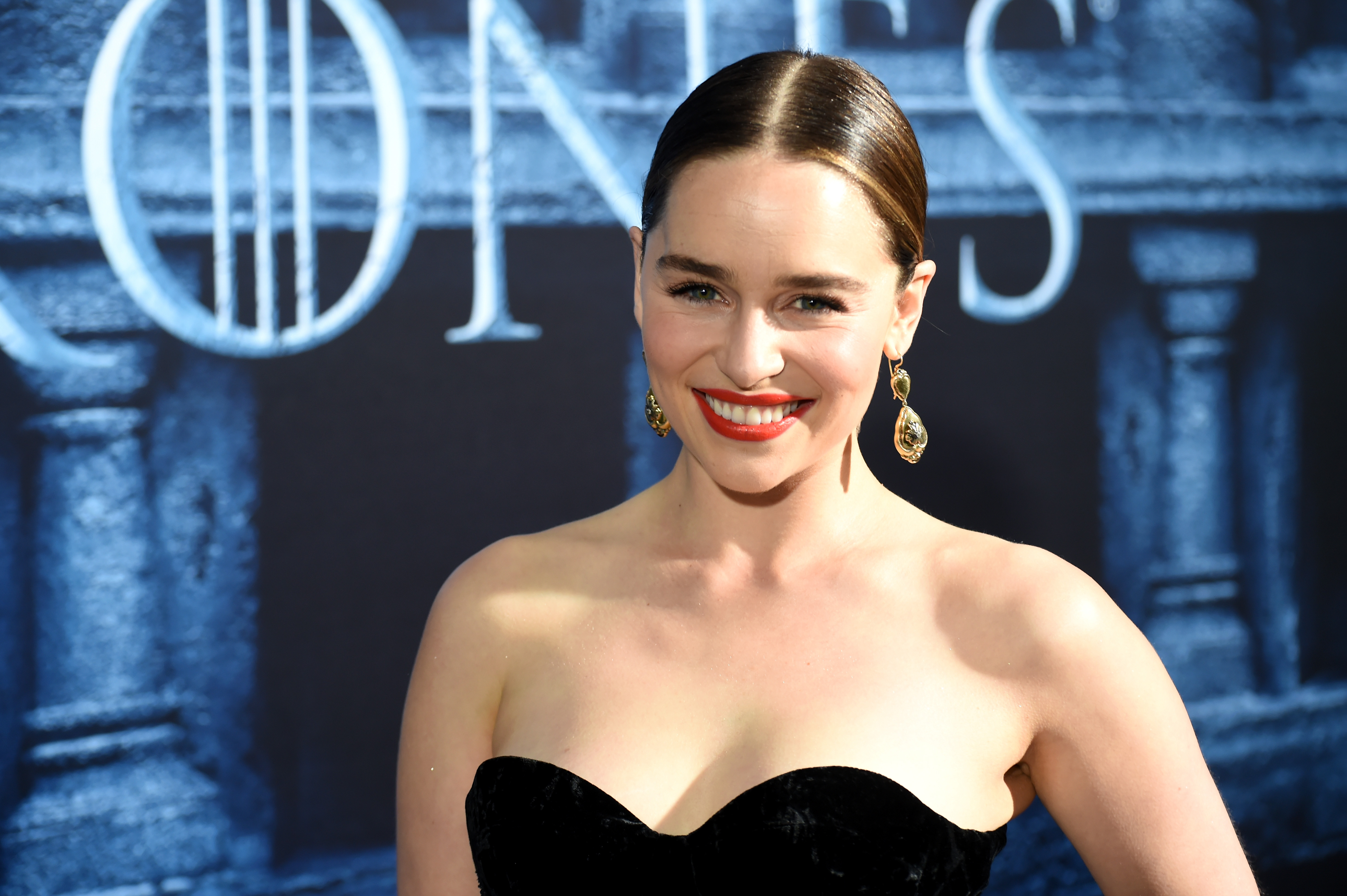Emilia Clarke wore a sheer sweater with a lacy bra and now we want to do the same