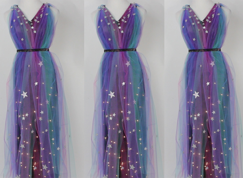 Get Your Ethereal Glam On With This DIY Light Up Galaxy Dress
