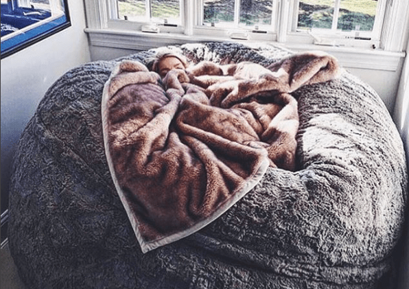 This Lovesac pillow chair is as big as a bed and youll