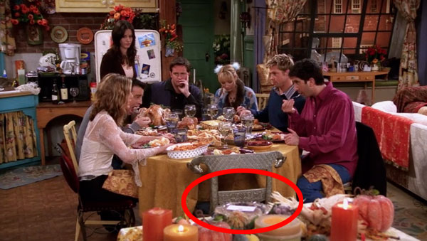 The one strange detail in the Brad Pitt Friends Thanksgiving episode we still have questions