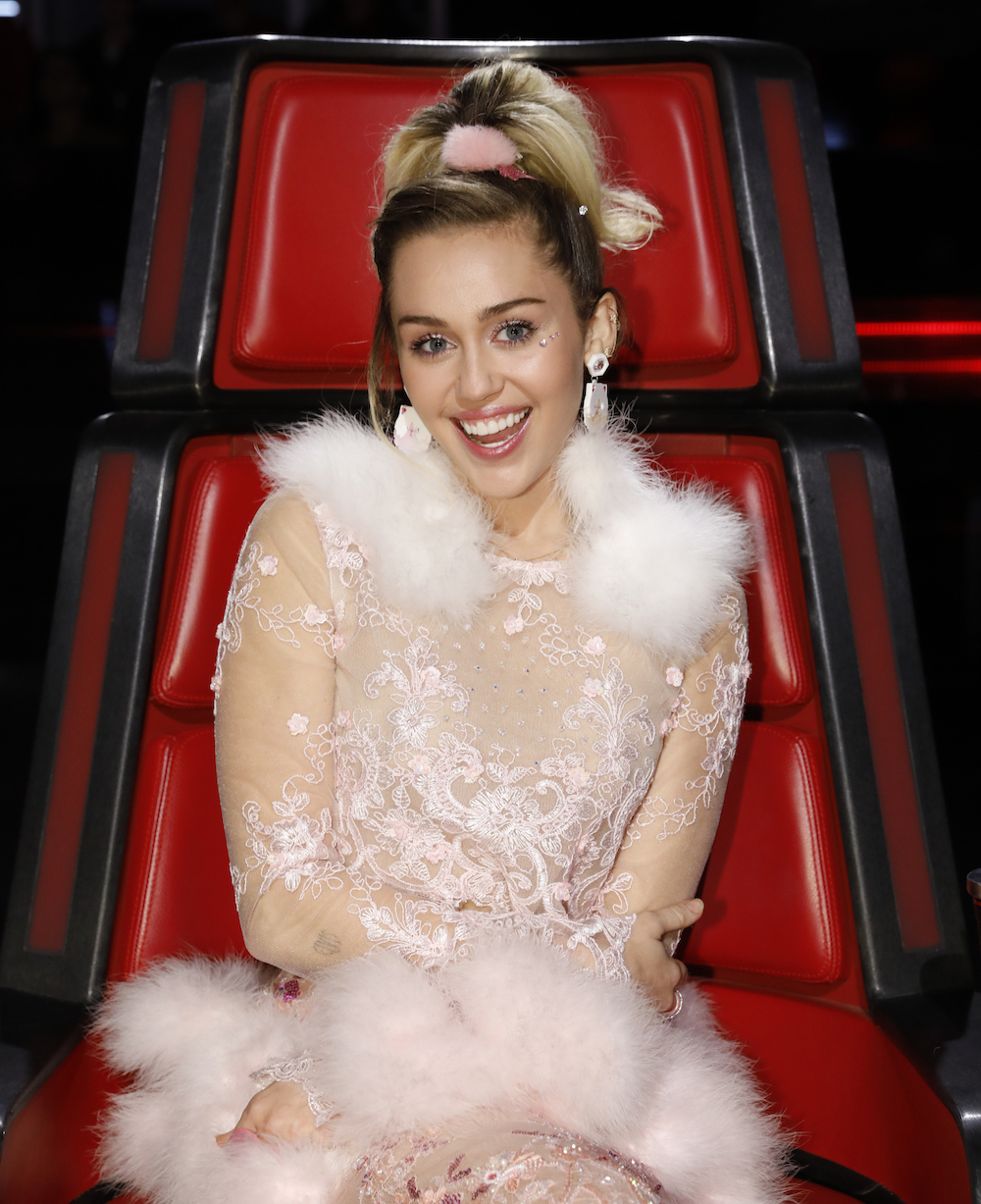 Miley Cyrus was a sugar plum fairy on The Voice finale