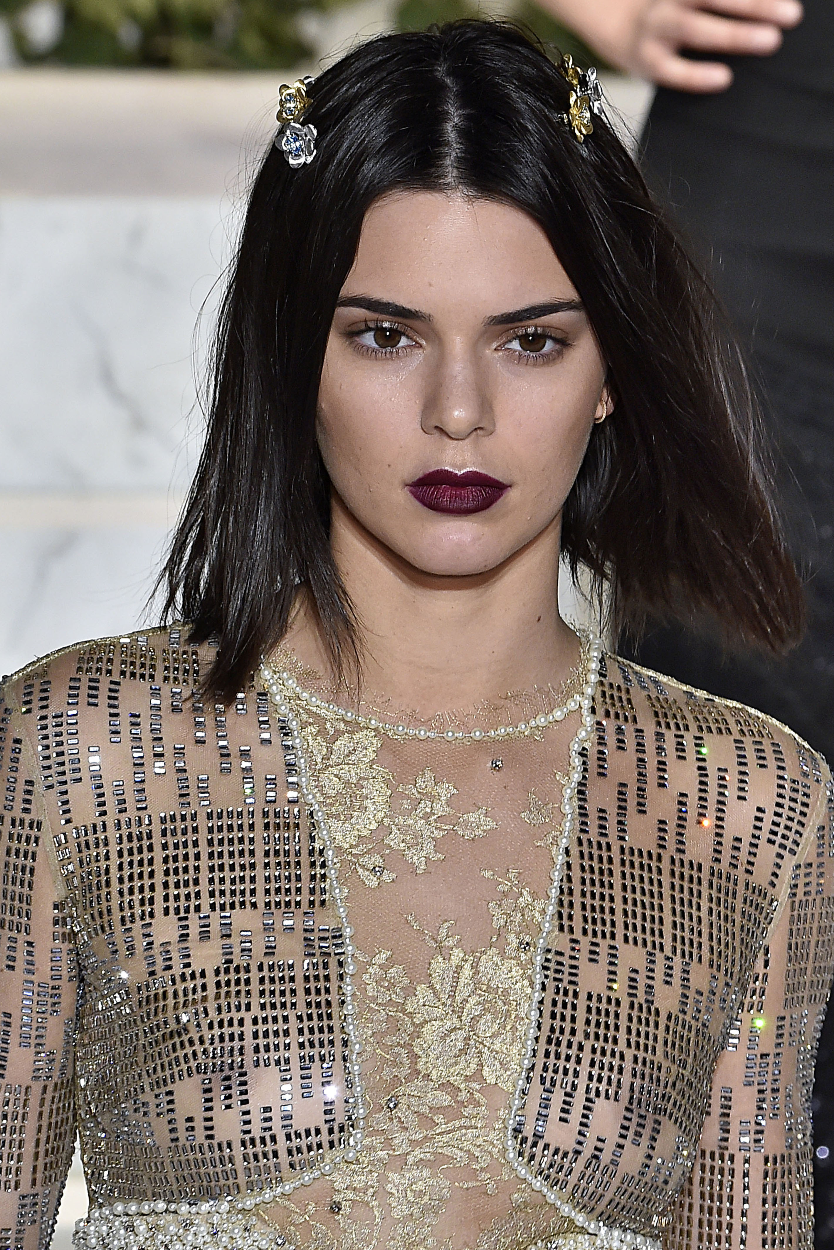 Kendall Jenner opened the La Perla fashion show in a sheer