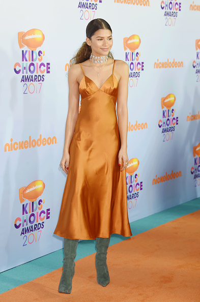 Zendayas orange slip dress is only 38 and heres how to
