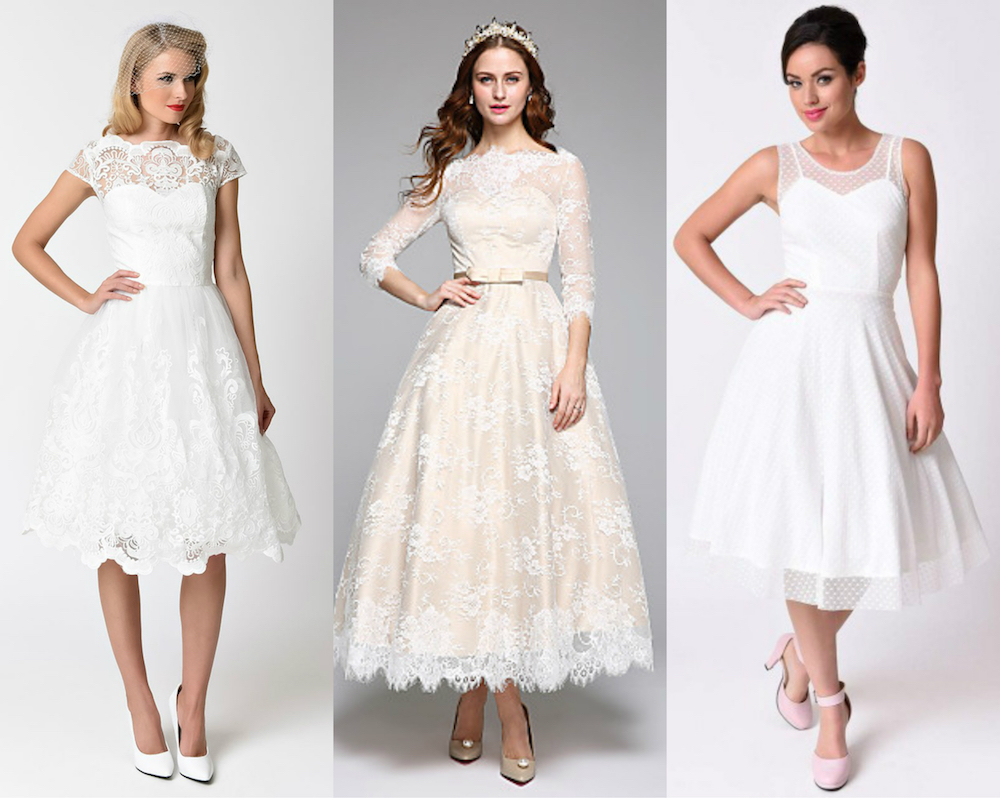 Here are 22 affordable retroinspired wedding dresses that