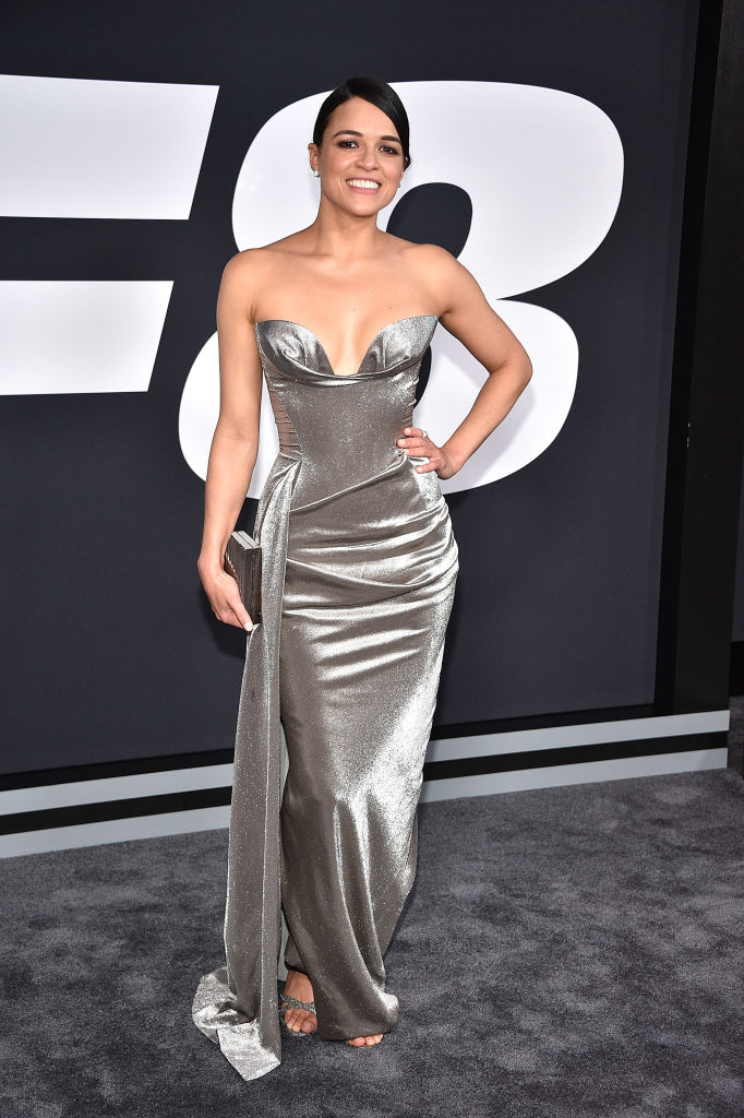 Michelle Rodriguez looked like a steel Greek goddess at