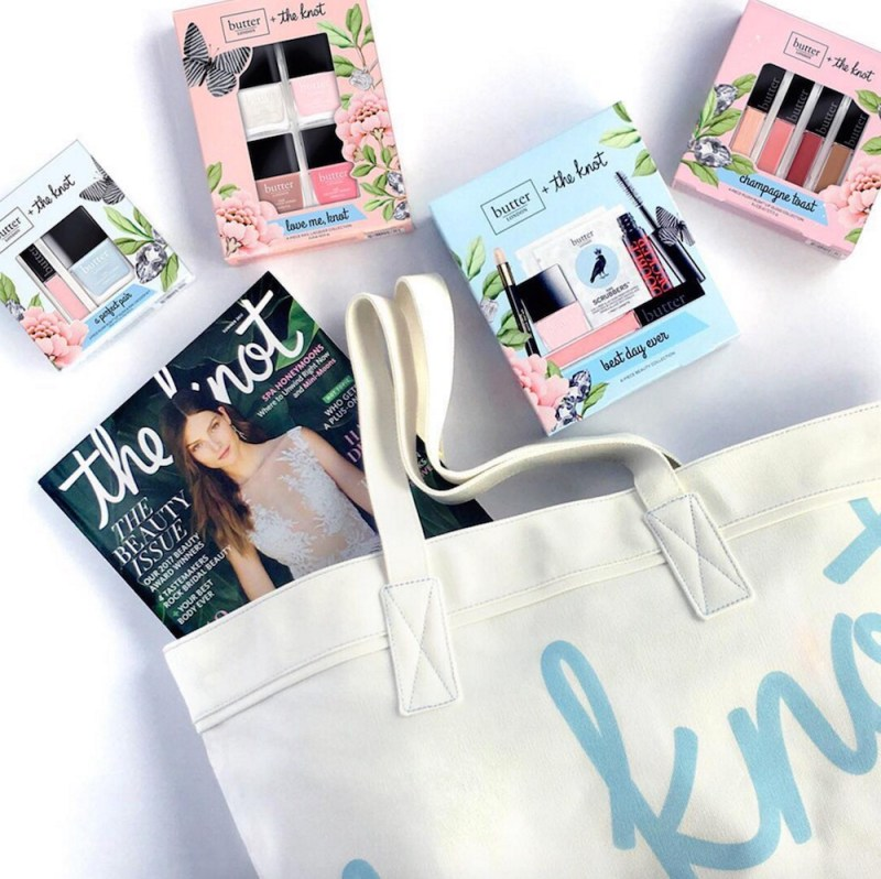 """Just in time for wedding season, """"The Knot"""" and Butter London teamed up for bridal-inspired beauty collection"""