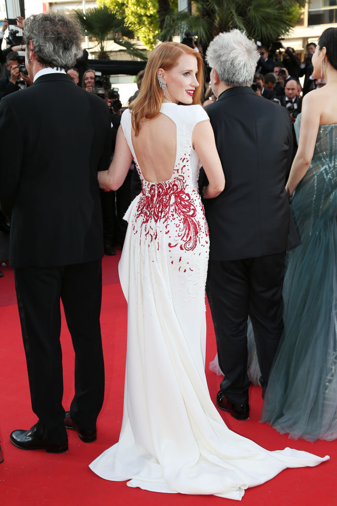 Were loving Jessica Chastains firework of a dress at the