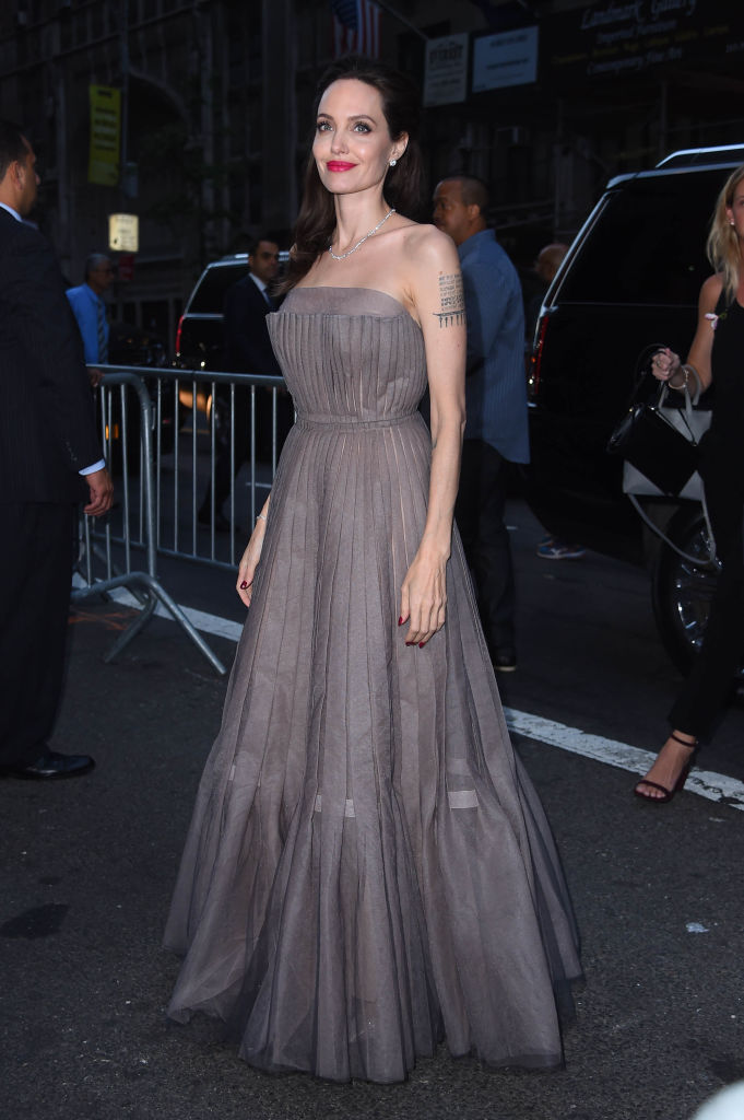 Angelina Jolies gray princess gown might be her best look