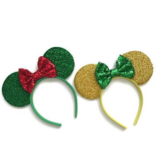 Picture of Christmas Minnie Mouse Ears Glitter