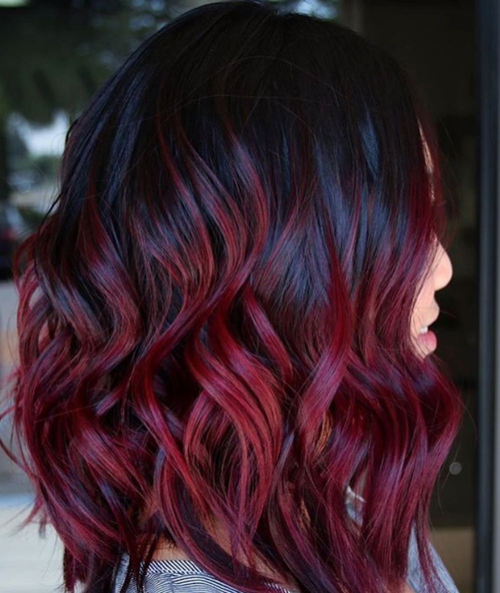 Wine Hair Color Pictures