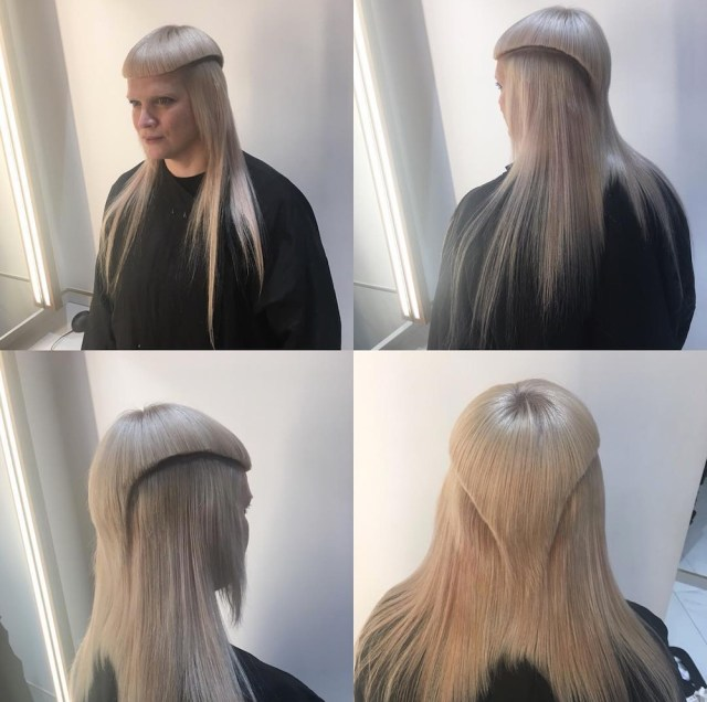 woman's controversial mullet hairstyle is going viral on