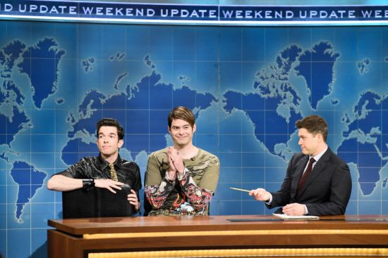 "Bill Hader's Stefon made his glorious return to Weekend Update on ""SNL,"" and this time, he brought a friend"