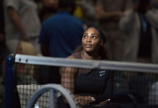 Serena Williams on the court at U.S. Open