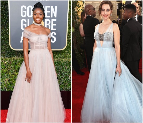 The biggest fashion trend at the 2019 Golden Globes was see-through corsets and bras