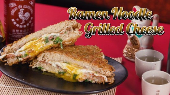 Ramen Noodle Grilled Cheese