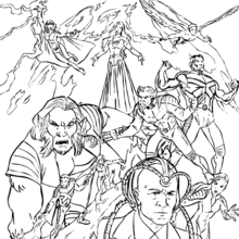 X-men : Coloring pages, Videos for kids, Reading