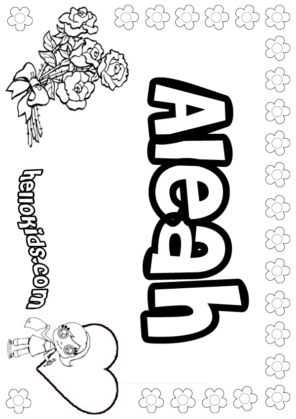 Aleah Coloring Pages