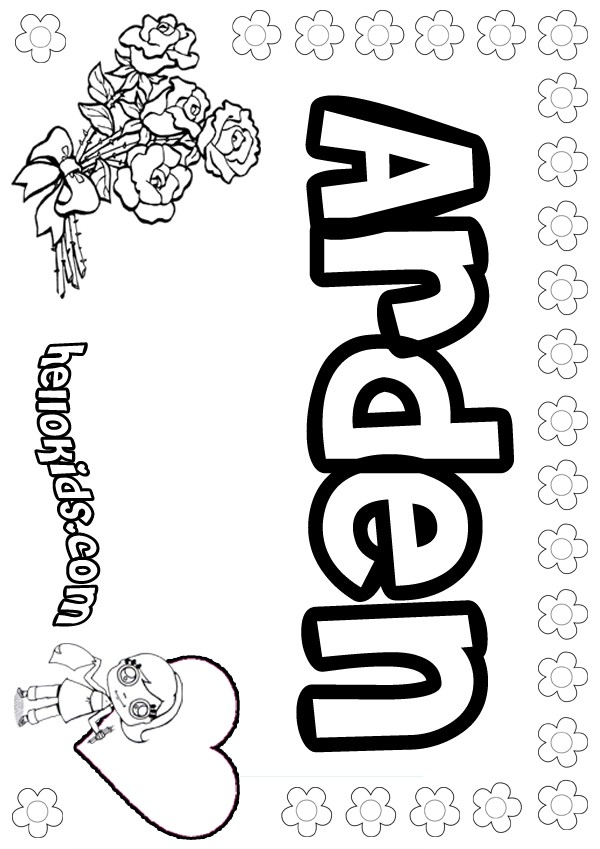 Arianna Coloring Pages