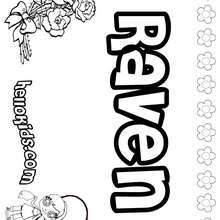 Ravens coloring pages