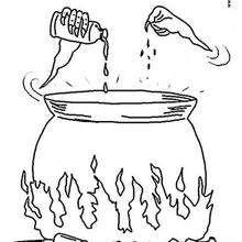 Cauldron Coloring Pages