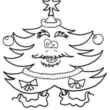 Kids are dancing around the tree coloring pages