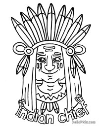 Indian coloring pages - Hellokids.com