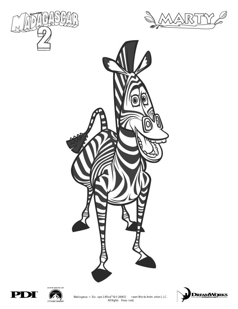 Madagascar Coloring Pages 24 Madagascar Online Coloring Sheets