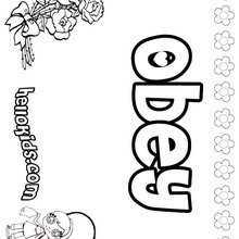 I Can Obey Coloring Sheets Coloring Pages