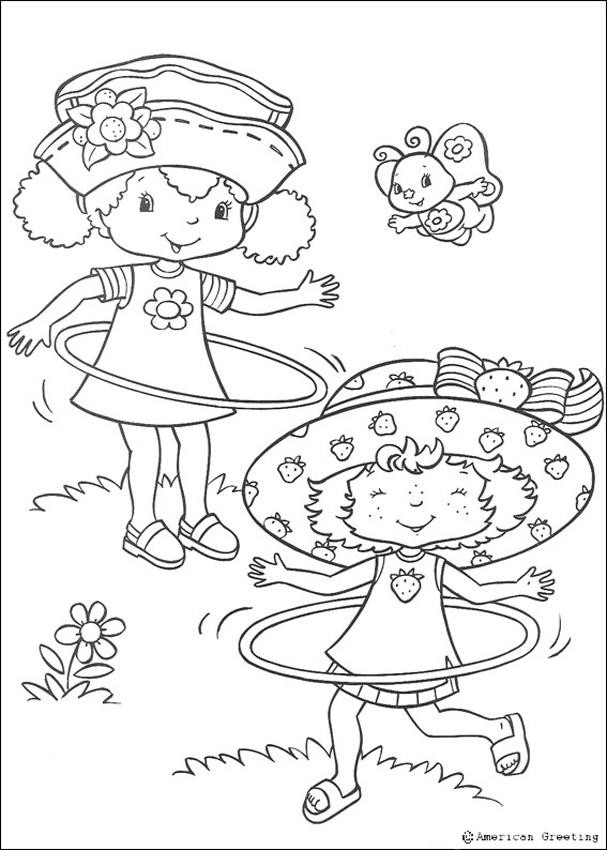 Strawberry shortcake and orange blossom coloring pages