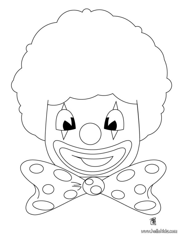 clown head coloring pages