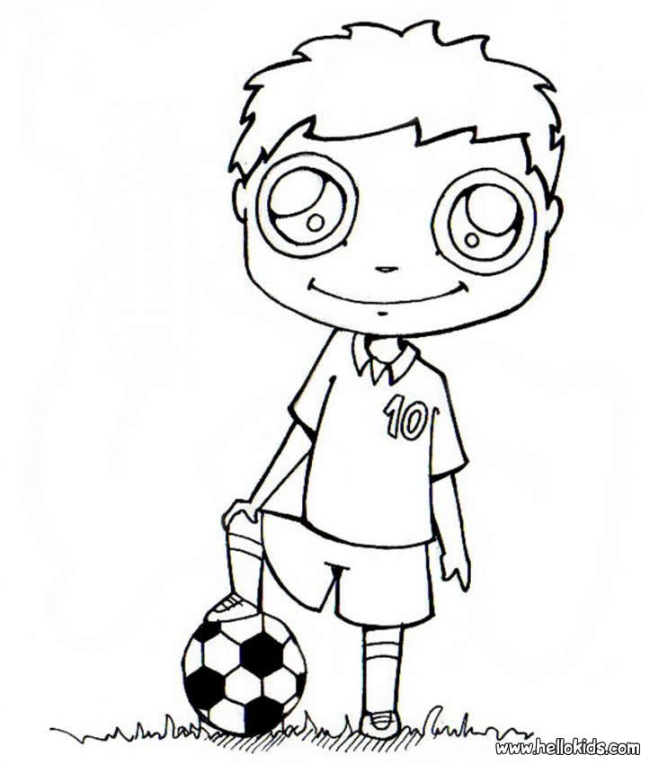 Soccer Corner Coloring Pages