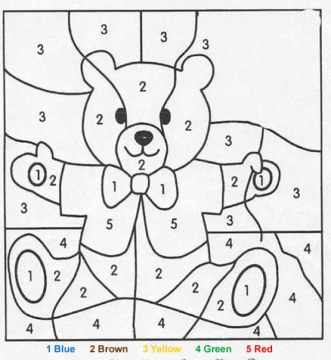 color by number page | Coloring Page for kids