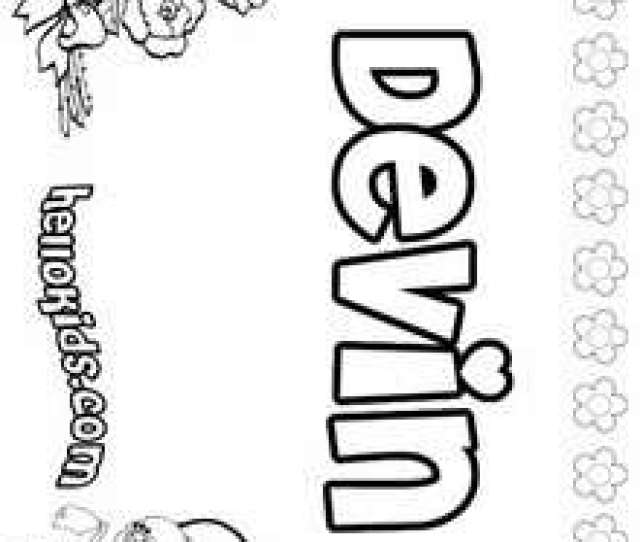 Devin Coloring Page Name Coloring Pages Girls Name Coloring Pages D Names