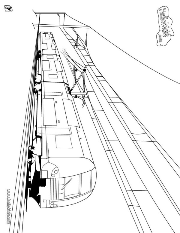 train coloring # 22