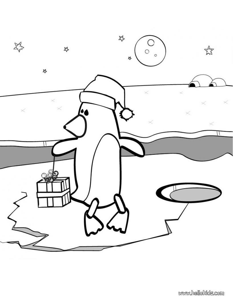 Penguin Coloring Pages Hellokids Com
