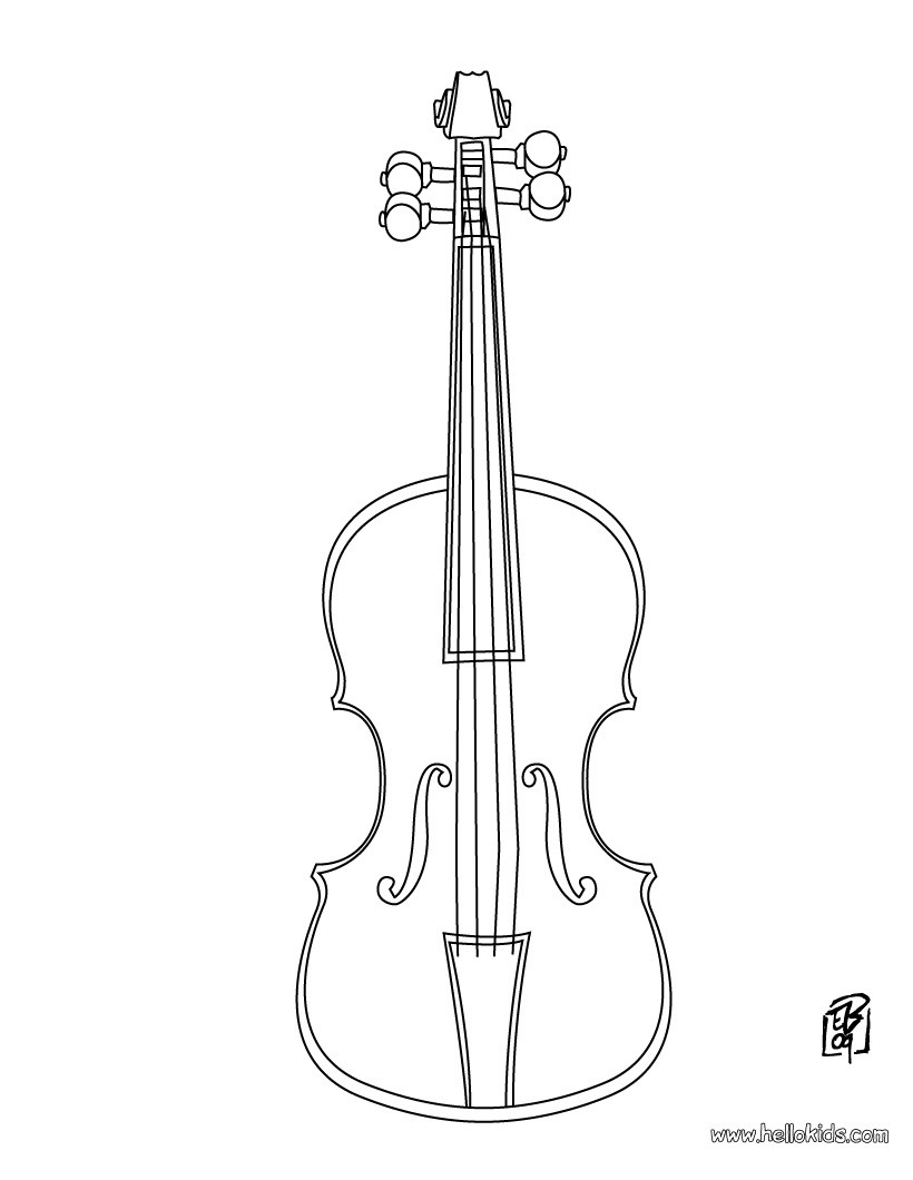 top celebrity: Coloring Pages Music Instruments