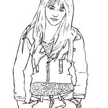 hannah montana coloring pages # 3