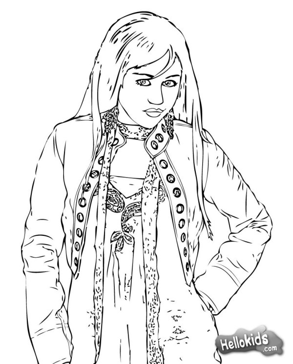 hannah montana coloring pages # 0