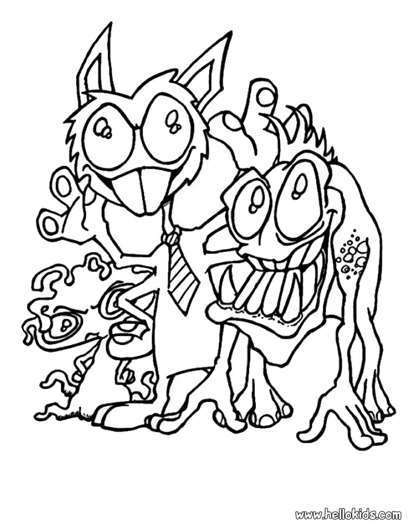 scary monster halloween coloring pages coloring pages